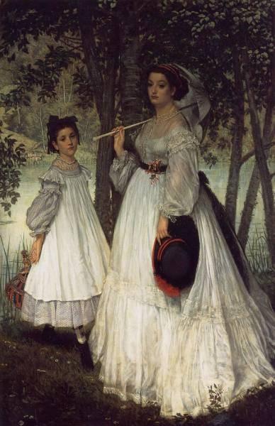 Tissot The Two Sisters Portrait